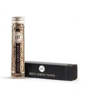 Hennes' Finest weißer Kampot Pfeffer, 33 g, ganze Körner